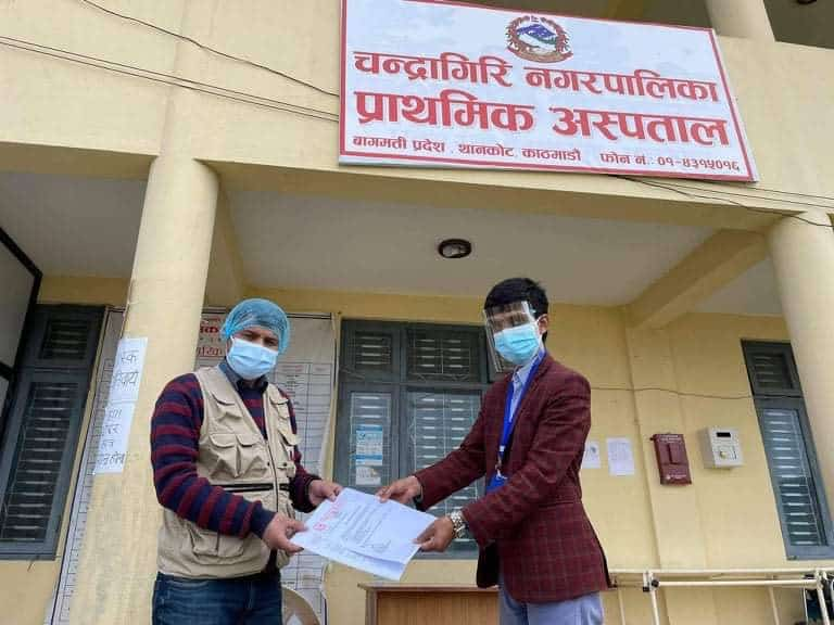 Volunteer Crops Nepal and Sowers Action to support Frontline Health Workers