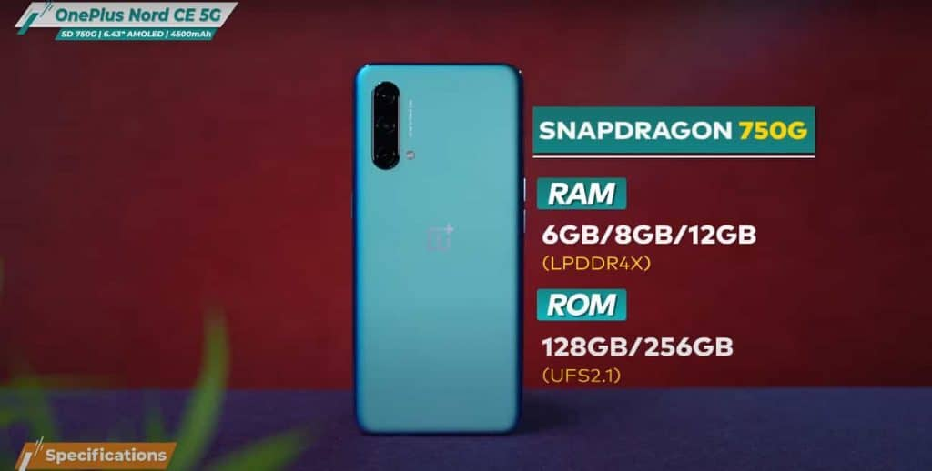 Oneplus Nord CE 5G Specifications